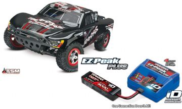 Traxxas 68086-4 Slash 4X4 TSM Brushless  (Black Mike Jenkins) With Battery, Charger & Lipo Bag Combo